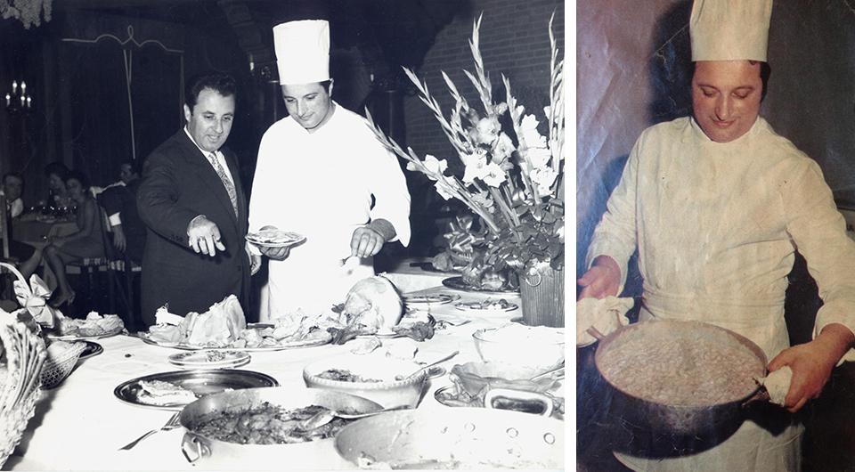 Lo Chef Ivo Gavazzi con Carlo Bergonzi e le Chicche del Nonno