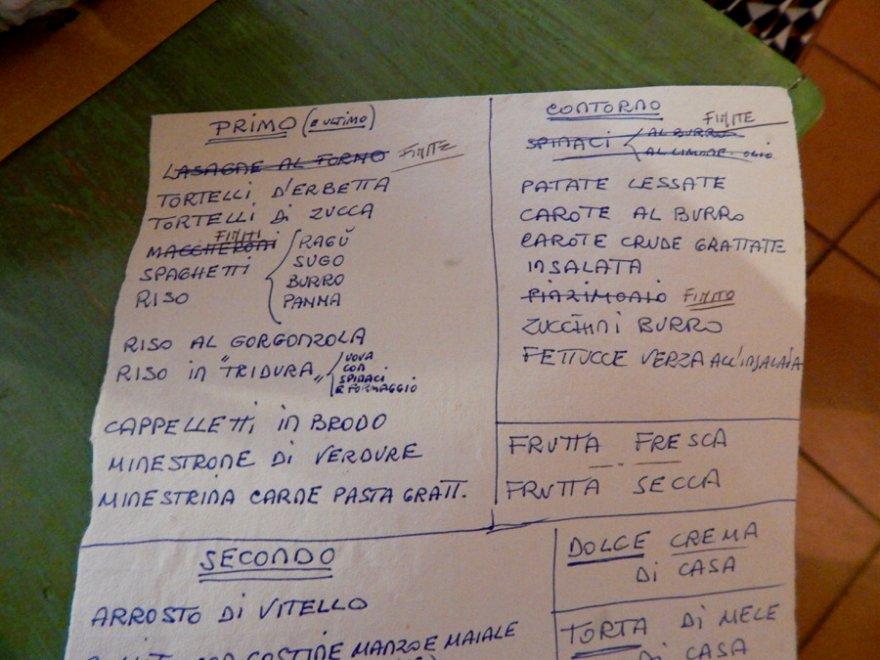carra menu