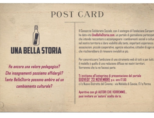 Una Bella Storia a Parma. Aperitivo con gli autori che vorremmo…