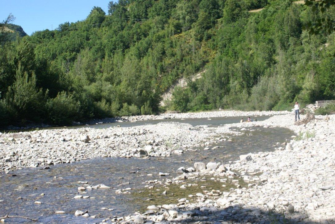 Alla scoperta del fiume Enza a Vetto nei dintorni di Parma